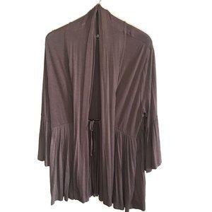 Soft Surroundings XL Flowy Brown Cardigan 3/4